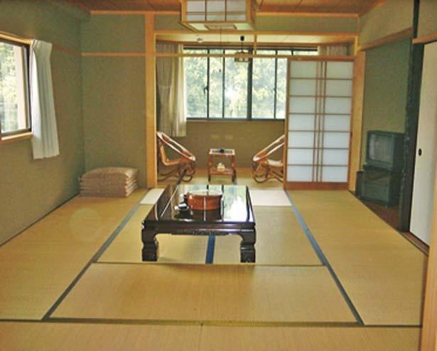 全16室の客室は和室/かにの宿 ふじつ温泉