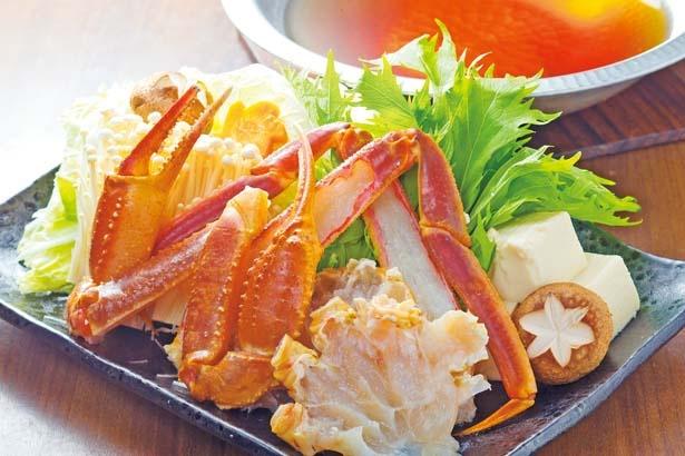 「活かにすき鍋コース」(1匹1万8000円~、3日前までに要予約、2人より受付)/浜の香