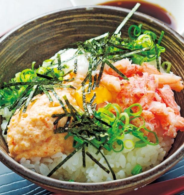 「かにトロ丼」(830円、ランチはセット880円)/浜の香