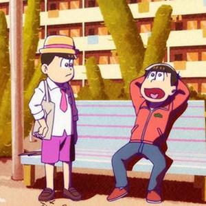 「おそ松さん 第2期」第7話のカットが到着。おそ松とトド松が向かった先は…?