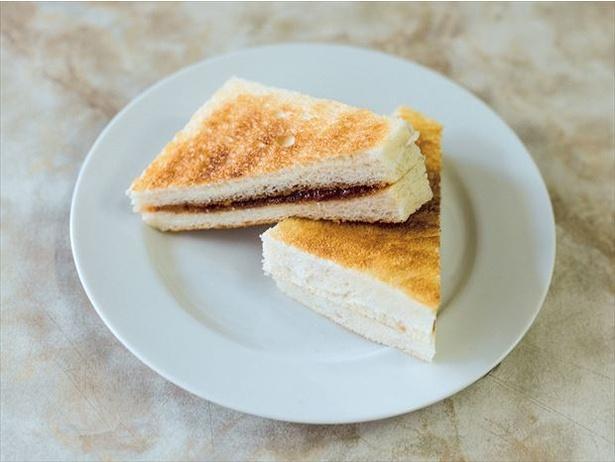 トーストで作る「ジャムサンドイッチ」は食パン2枚分なので440円