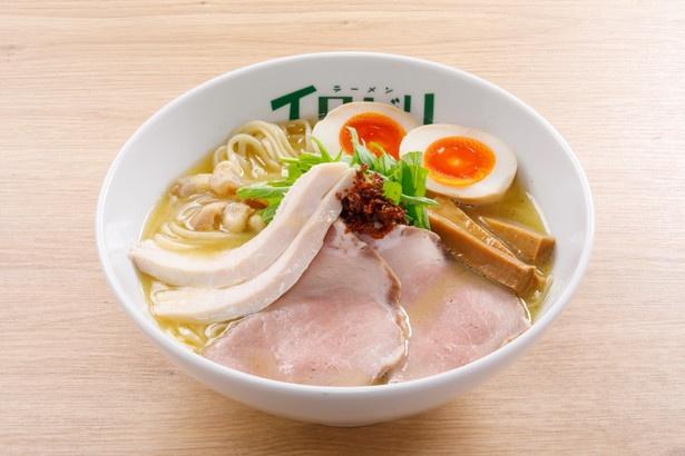 【写真を見る】旨味が凝縮された鶏白湯が人気!岐阜新店1位の「特製イロドリらぁめん」(900円)