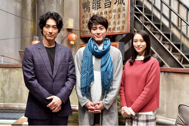 「今からあなたを脅迫します」第6話から出演が決まった間宮祥太朗。W主演のディーン・フジオカ、武井咲と記念撮影を!