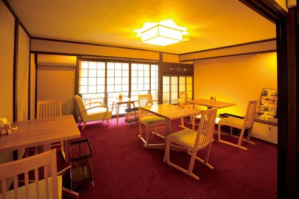 町家を生かした2階がカフェスペース/京都祇園 あのん 本店
