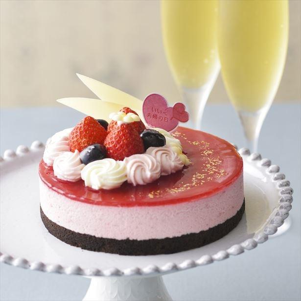 銀座コージーコーナーでいい夫婦の日にちなんだケーキを販売「 ルージュデコレーション(4号) 」(2160円)