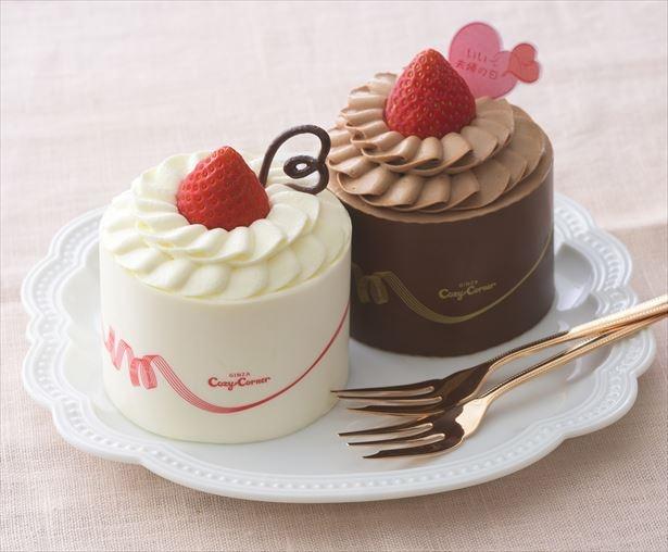 【写真を見る】ペアで楽しめる、おふたりさまケーキを販売「 GOOD PARTNERS 」(1296円)