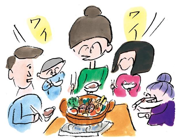 肩肘張らず、格式張らず。楽しい食事をみんなで心がけるのが最も大事な鍋の作法