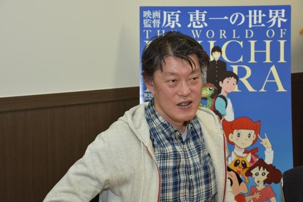 特集上映での手応えを感じ、笑顔でインタビューに答えてくれた原監督