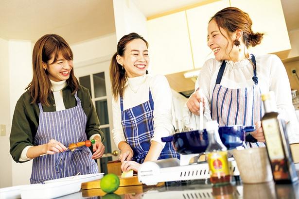 みんなで楽しく料理を作るのもおいしさの秘訣