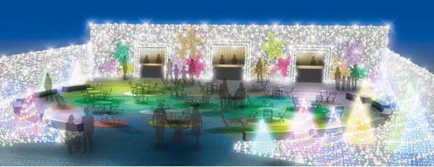 ストロベリーやマンゴーなど5つのフルーツをイメージしたスイーツエリア(イメージ画像)