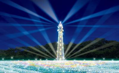 高さ27mの燈台が登場する「ジュエリー・ライトハウス」。燈台の光が会場全体を照らし、より美しく演出する(イメージ画像)