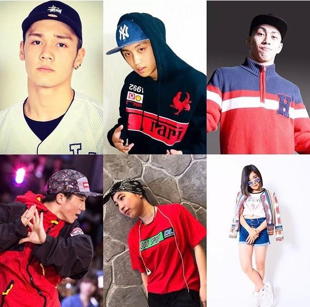 写真左上より時計まわりに、SHO-TA、R>-O、HAYATO、ReiNa、RINKA、LEO