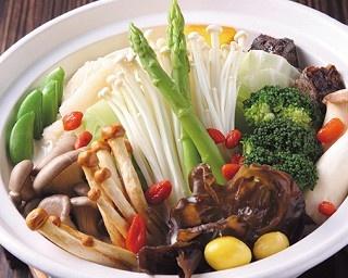 「鴛鴦鍋底(2種類の鍋用スープ)」(158元)