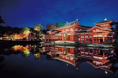 極楽の宝池に浮かぶ宮殿のように、美しい姿を水面に映す、国宝・鳳凰堂/平等院 夜間特別拝観「瑞光照歓~錦秋のあかり~」