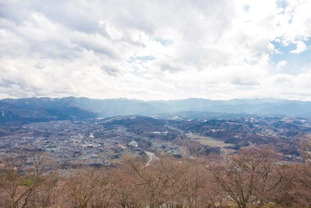 蓑山山頂からの眺め。見晴らしがよく、リフレッシュ気分に!