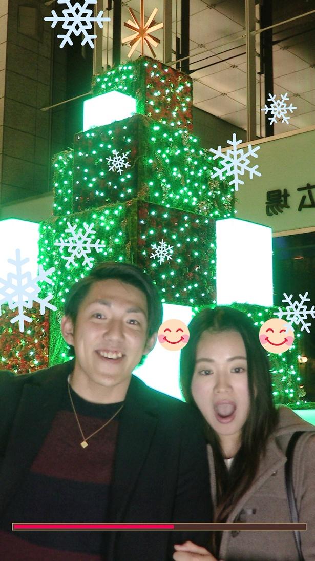 二人の笑顔がそろったら雪が降ることも!