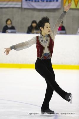 國方勇樹、東日本ジュニア選手権でのショートプログラムの演技