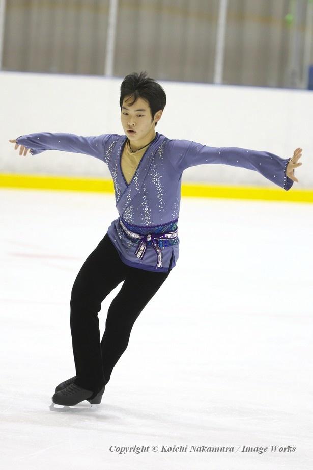 國方勇樹、東日本ジュニア選手権でのフリープログラムの演技