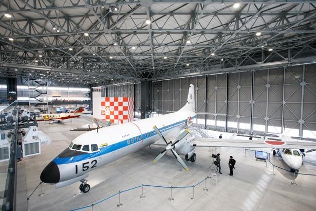 愛知県でつくられた機体が勢ぞろい。今にも飛び立ちそうだ