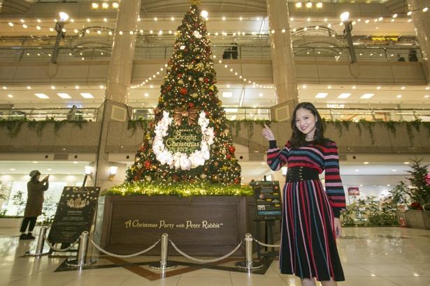 シックな色合いと装飾が大人っぽいクリスマスツリー。「クリスマス気分が盛り上がりますね!」と水谷さん