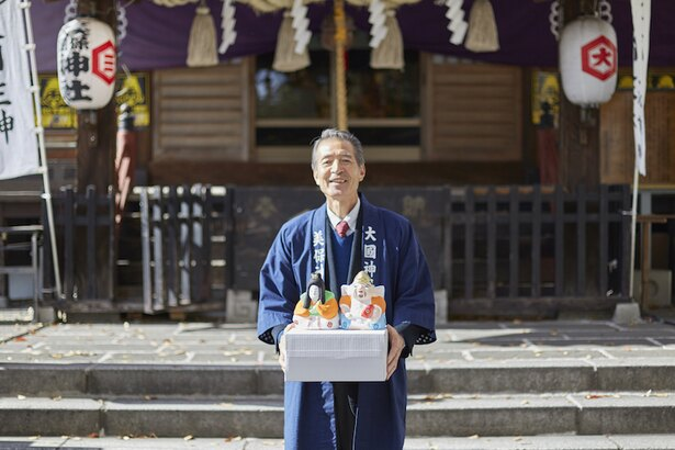 高崎美保大国神社奉賛会会長の岡本隆司さん