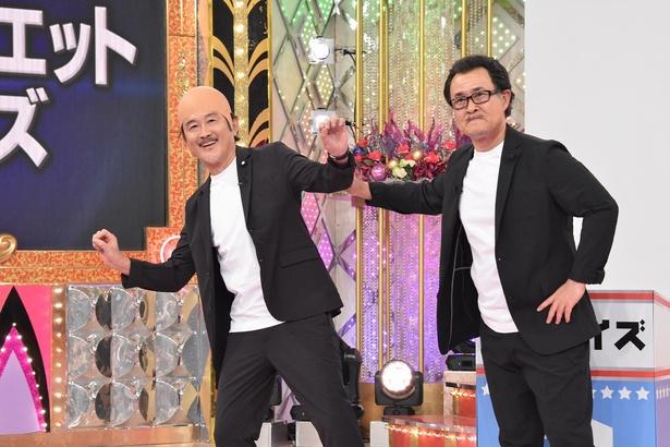 「ものまねグランプリ~ザ・トーナメント~」に登場した神奈月と吉田鋼太郎。どっちがご本人か一瞬迷いませんか?