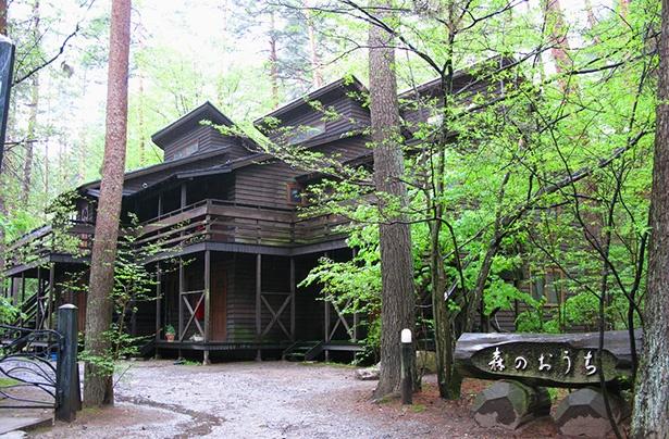 木造2階建て・全6室からなる「ジョバンニのコテージ」。部屋ごとに玄関が独立しており、ミニキッチンを使って自炊も可能。図書室の本の無料貸し出しも実施している