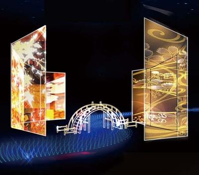 巨大な屏風のイルミネーション/大阪城イルミナージュ