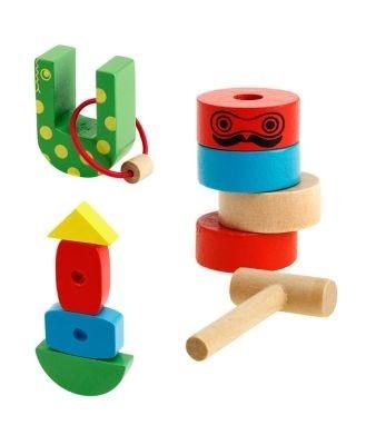 ミニチュアサイズの木のおもちゃは全10種類