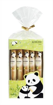 【写真を見る】親子のパンダデザイン!裏面にはパンダ探しのクイズつき