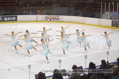 都民体育大会にて、神宮Ice Messengersの演技