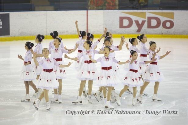 都民体育大会にて、神宮Ice Messengers(ノービス)の演技。将来、彼女達が日本代表の屋台骨を支える時が来るのだろう