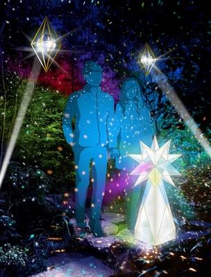 【写真を見る】手をつなぐと親密度で演出が変化する「星のカケラ for two」(※イメージ画像)