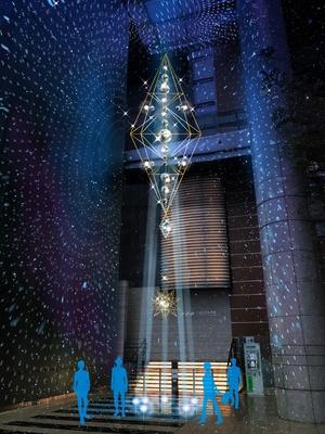 高さ14メートルの光のオブジェ「スターフォール」(※イメージ画像)
