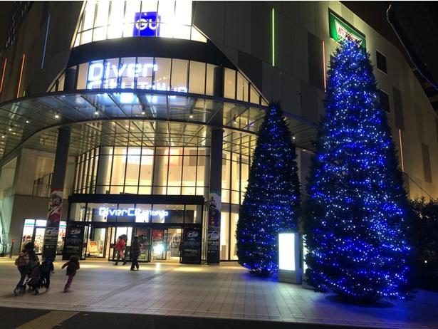 ダイバーシティ東京 プラザ全体も冬の装い