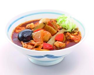 5種類の野菜と味噌スープがベストマッチ!具だくさんなのもうれしい