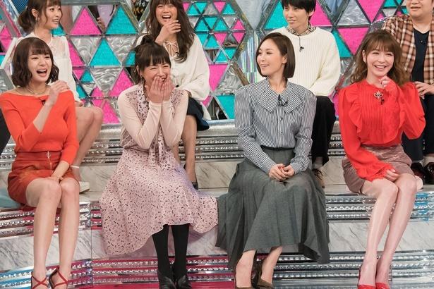 第二の人生を歩む女性芸能人、左から岡田紗佳、ちはる、垣内りか、藤井リナ