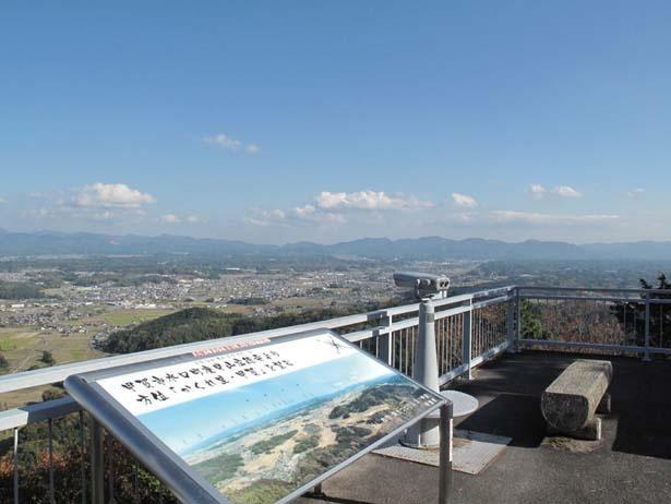 甲賀の町並みを一望できる/庚申山広徳寺