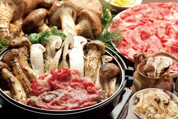 「松茸&近江牛食べ放題」(7560円)は前日までに要予約/魚松 本店