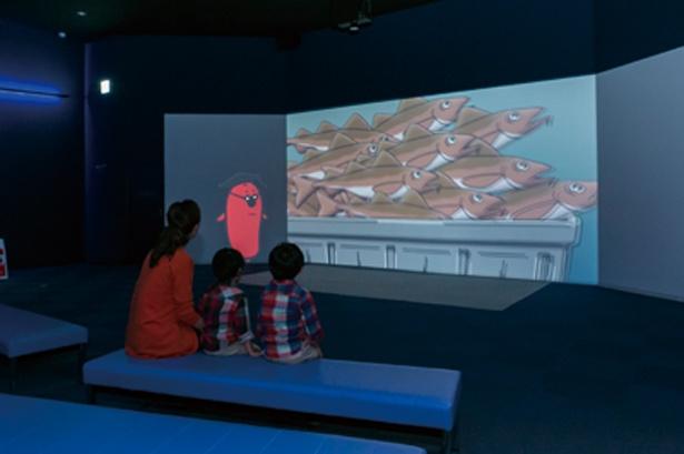 実写とアニメーションを駆使した3Dマルチシアターは迫力満点!/めんたいパーク神戸三田