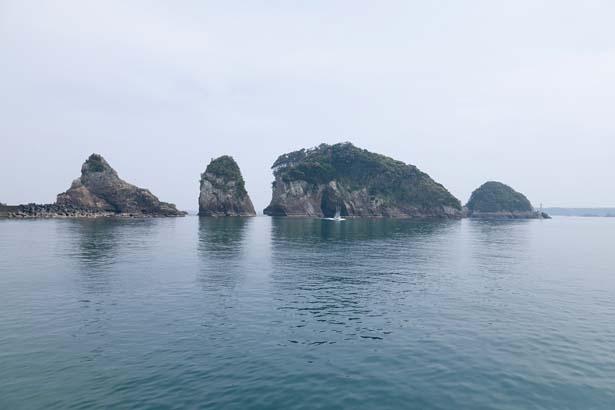 紀の松島などリアス式の海岸の景色が広がる熊野灘/燈明崎山見台跡