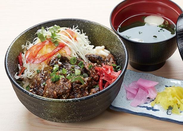 「鯨スタミナ丼」(980円)/道の駅 たいじ