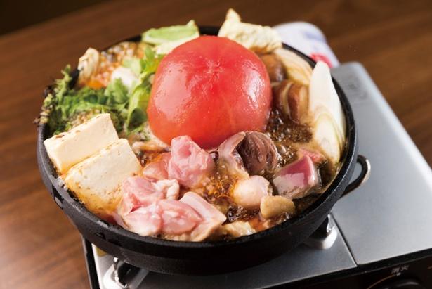 4種類の鶏肉を使った「トマトすき焼き」(1人前995円、注文は2人前から)