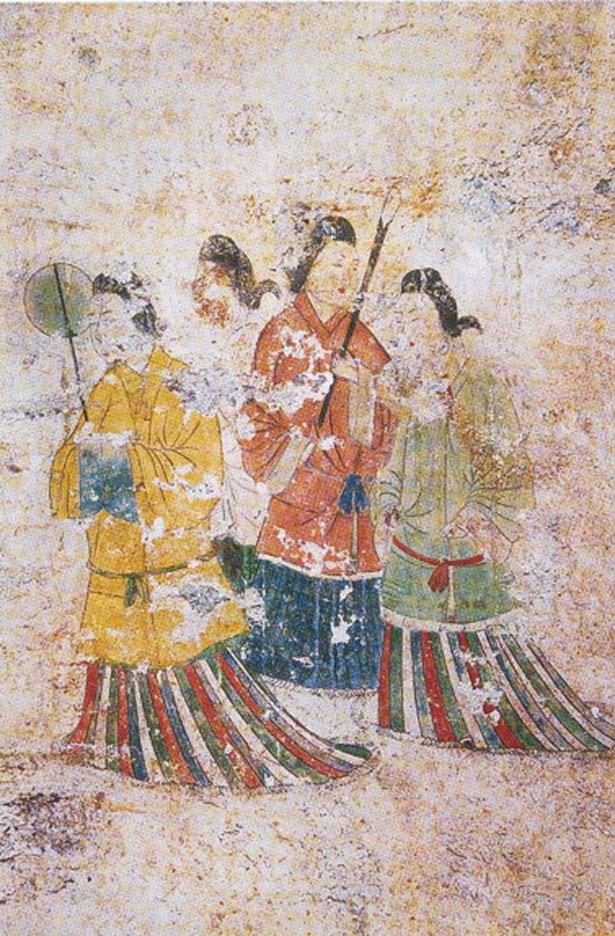 【写真を見る】高松塚古墳壁画の現状模写/高松塚壁画館