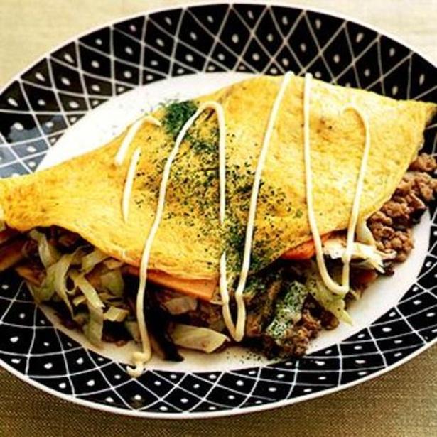 「肉野菜の卵包み」 レタスクラブニュースより