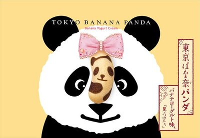 パンダの顔がドーンとアップになったユニークなパッケージ