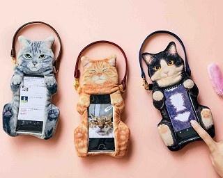 猫のおなかを思う存分ナデナデしたい!その欲望を満たすスマホポーチが発売