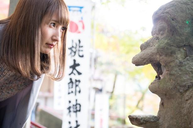 """「猿の石像の口の中に、凶のくじを入れると悪運が""""サル""""んだって!」"""
