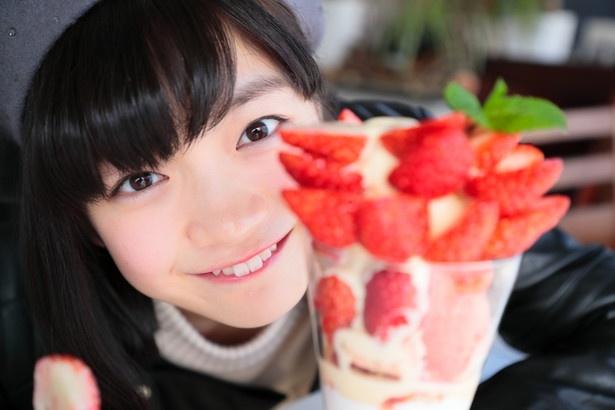 「こーんなにイチゴのっているよ♪」