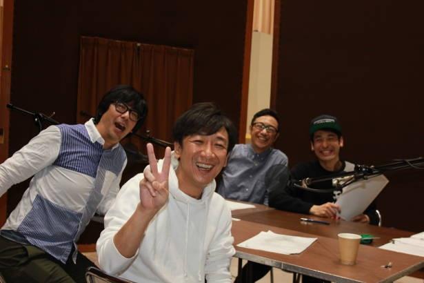 東京03×佐藤隆太のラジオコントの収録が、和やかな雰囲気で行われた